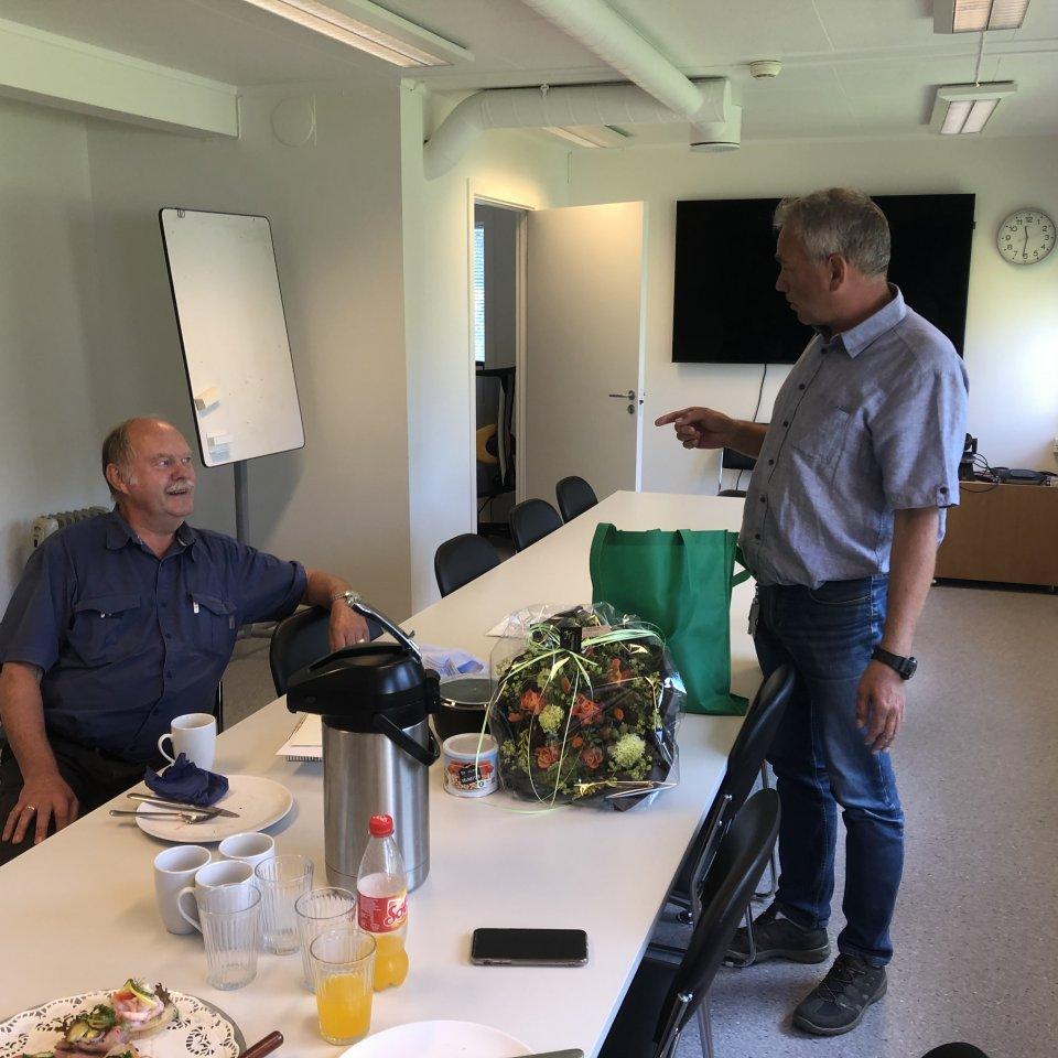 Havnedirektør Tore Lundestad og havnekaptein Per Kristian Johansen